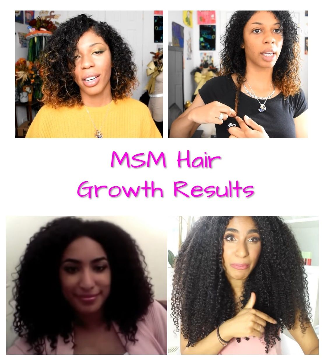 Msm Hair Growth Before And After Pictures Msm Hair Growth Natural Hair Styles Natural Hair Product Reviews
