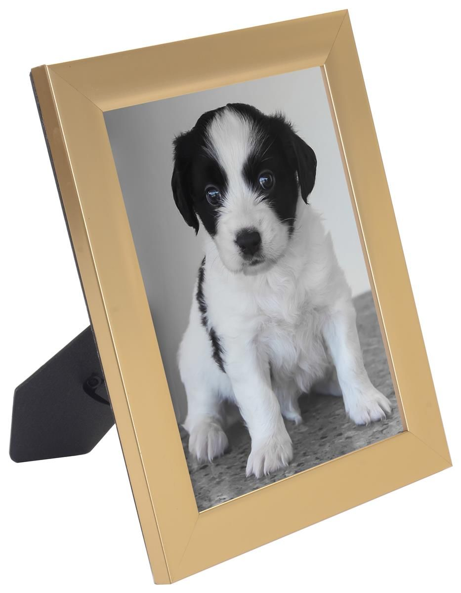 4 x 6 Matted Picture Frame for Table or Wall, Plastic- Gold | Gold ...