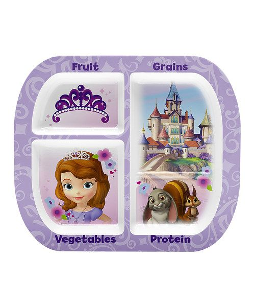 Take a look at this Sofia the First Four-Section Plate on zulily today! 6120f7dcb