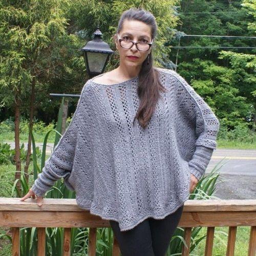 Sweater Poncho Crochet Pattern