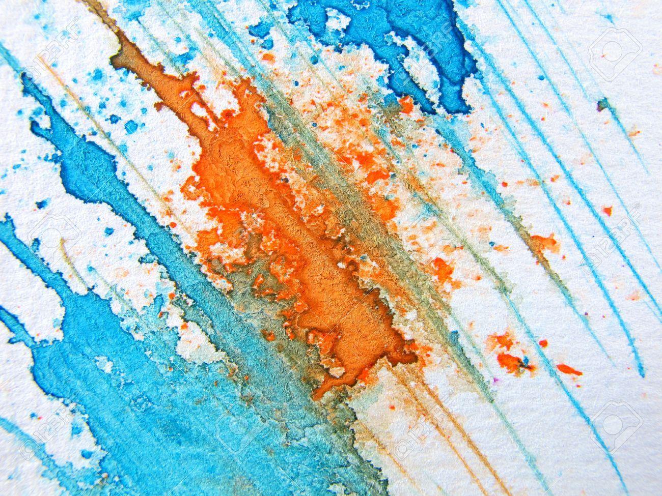 Aquarelle Blue Orange Recherche Google Blue Orange Abstract