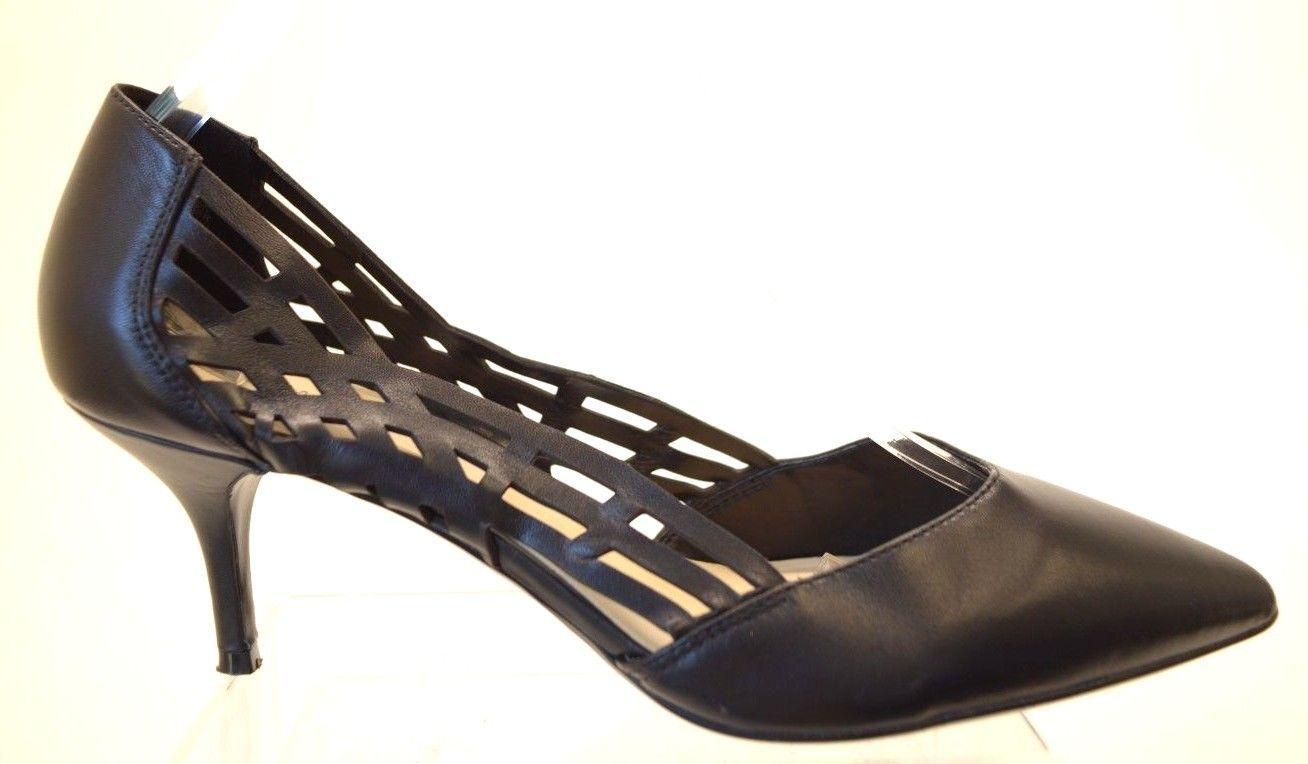 0fd238ae968 Nine West MACARON Women s Black Leather HEELS Size 10W
