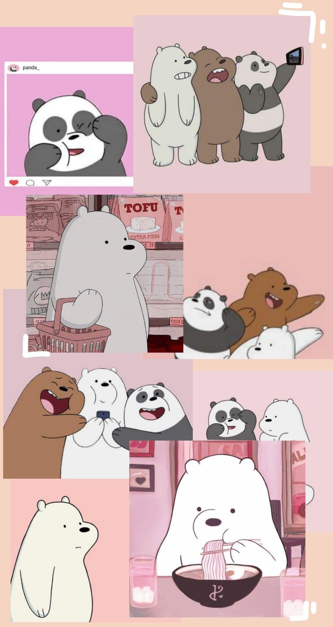 Wallpaper We Bare Bears Di 2021 Boneka Hewan Anak Binatang Hewan