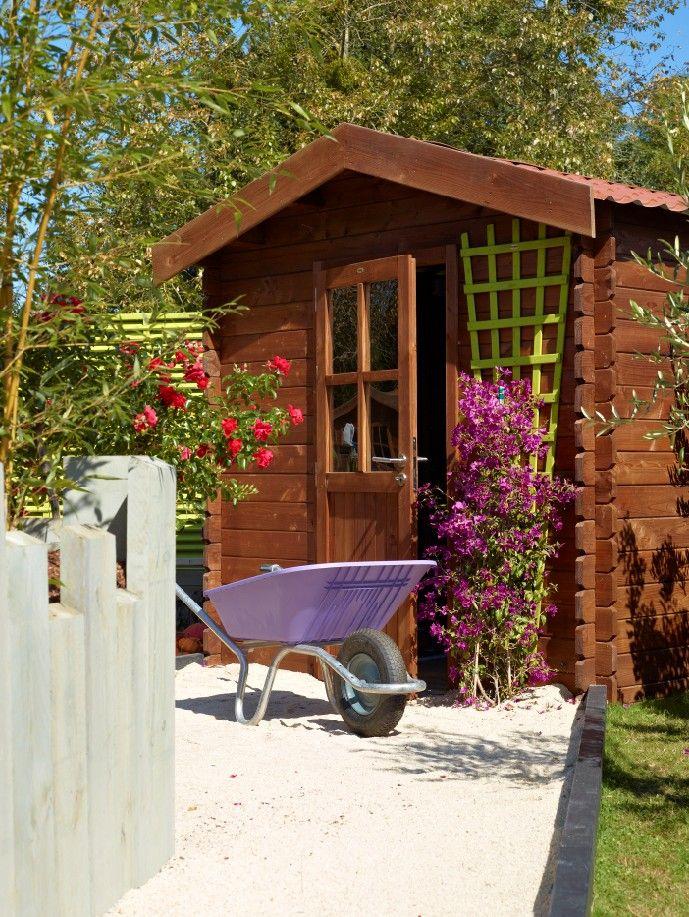 Abris de jardin en bois à empiler Modèle Kéréon 5m² Choisissez une - Montage D Un Garage En Bois