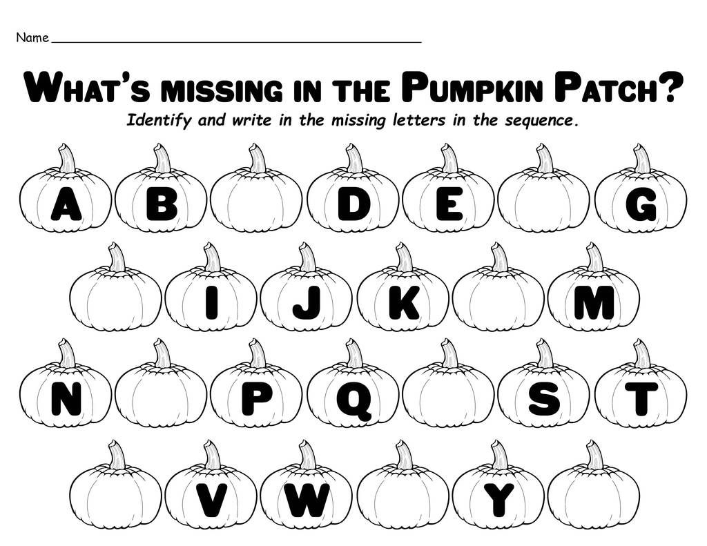 Missing Letters In The Pumpkin Patch Free Printable