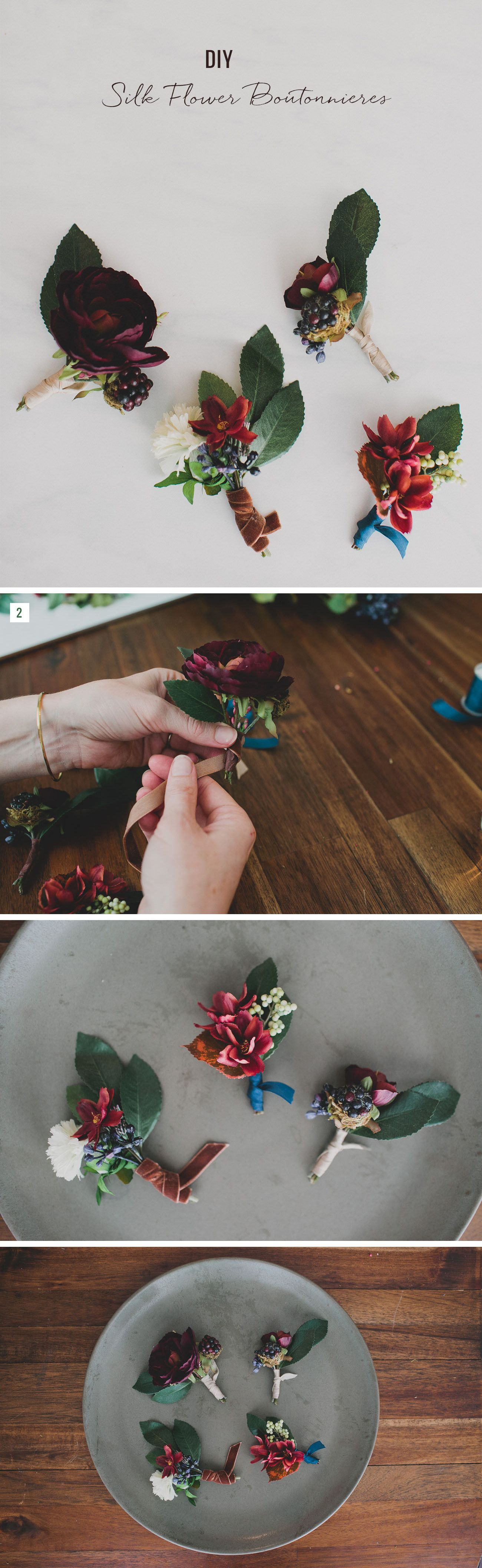 Diy Silk Flower Boutonnieres Beauty And The Beast