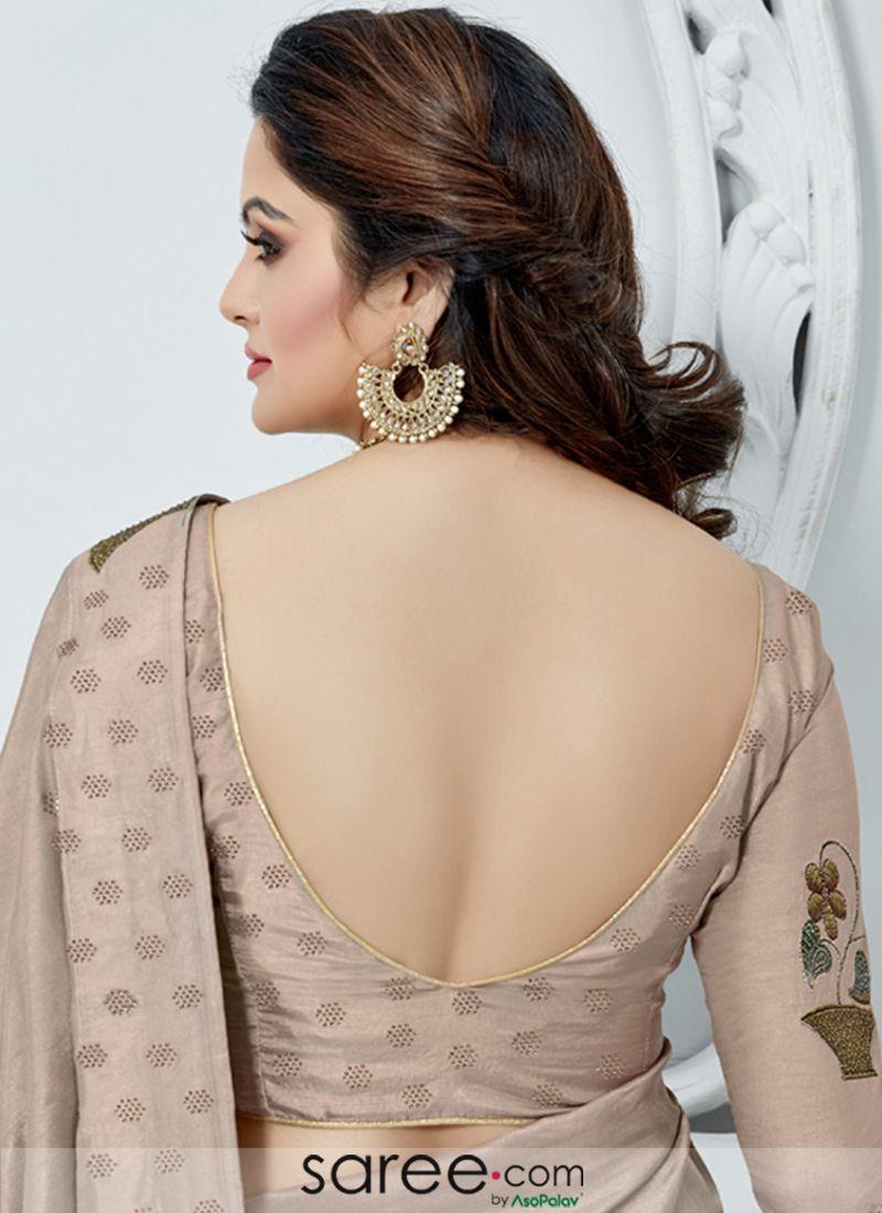 Mauve Silk Deep U Neck Back Blouse Design Fashion Blouse Design Fancy Blouse Designs Trendy Blouse Designs