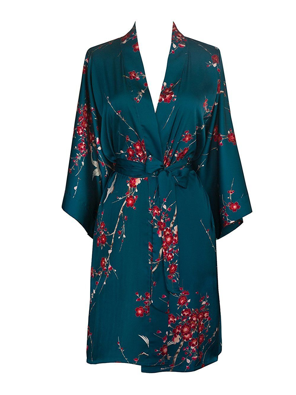 Old Shanghai Women s Kimono Robe Short - Watercolor Floral fbd9638fe