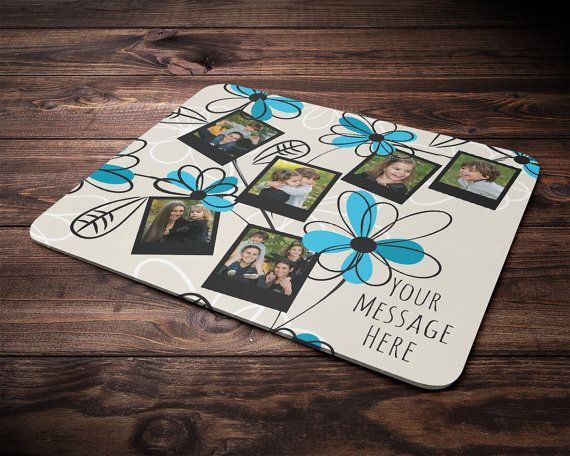 Customized Photo Mouse Pad, Personalized Valentine's Gift Photo MousePad, Birthday Gift Mouse Pad, Occasional Gift Anniversary Gift MousePad