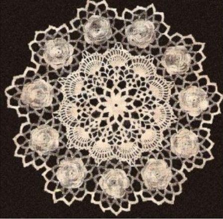 Irish Flower Crochet Rose Pattern Doily Flowerfloral Doily