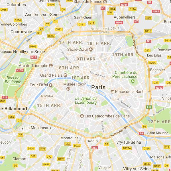 Paris Meridian / Arago Medallions (Google Maps Version ...