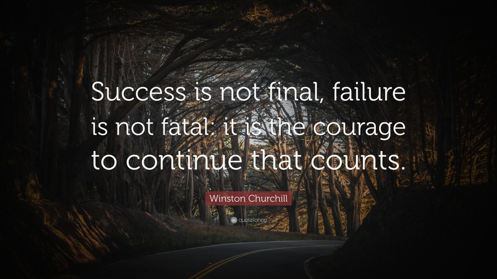 Winston Churchill Quote Success Is Not Final Failure Is Not Fatal It Is The Courage To Conti Churchill Quotes Winston Churchill Quotes Success Is Not Final