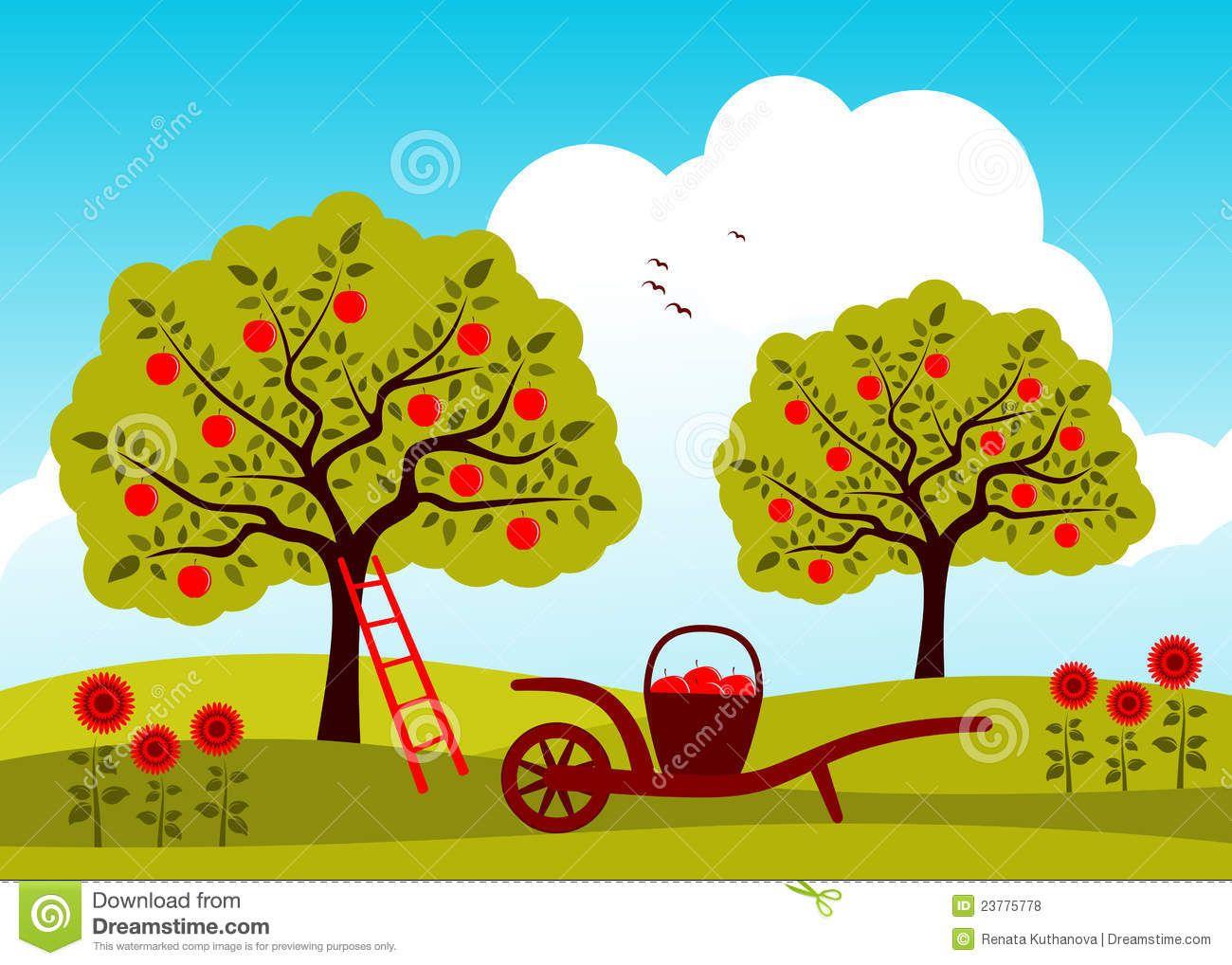 Apple Tree Orchard Royalty Apple Illustration Apple Tree Tree Doodle