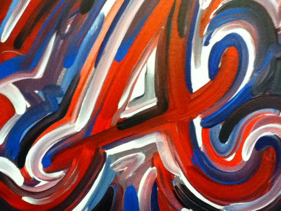Atlanta Braves Painting By Justin Patten Sports Art Baseball