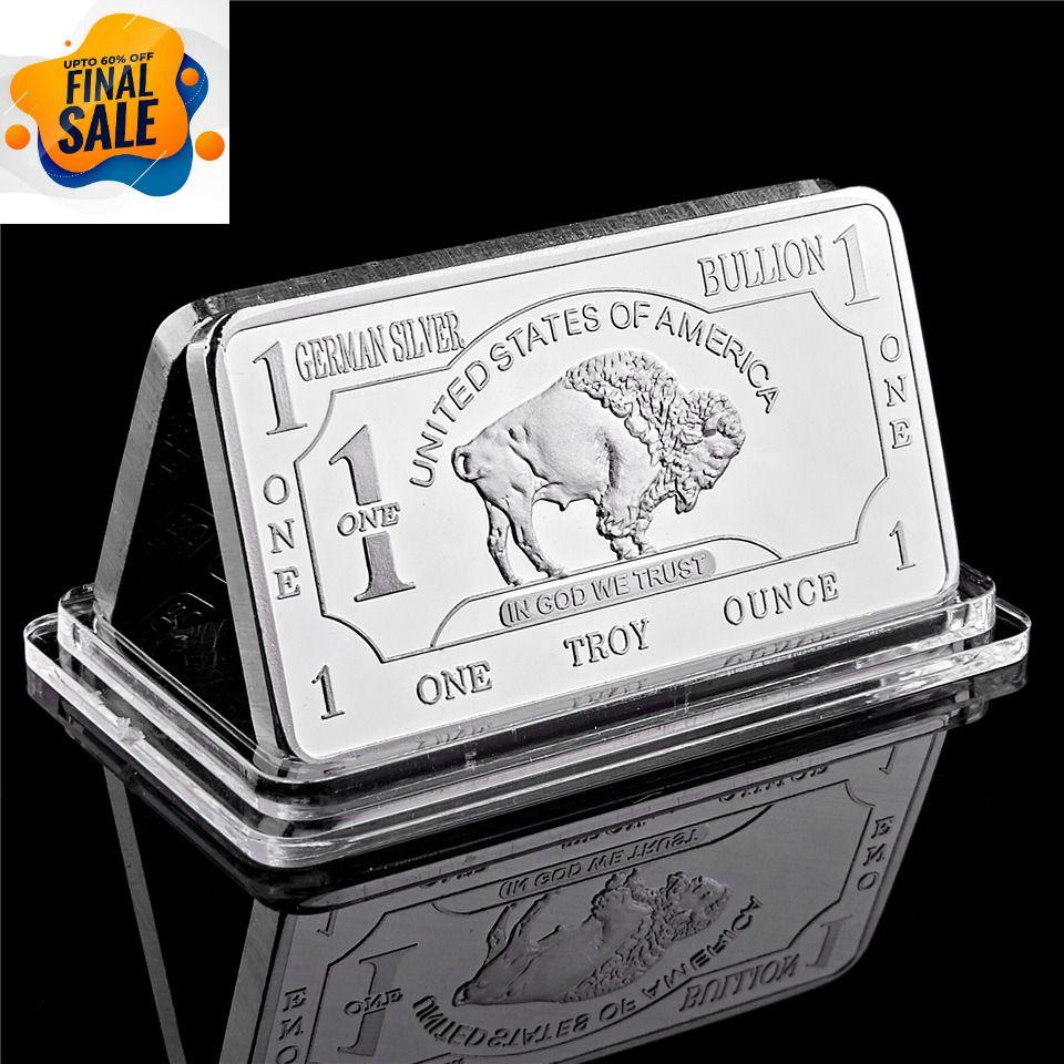 German Buffalo Prospector 1oz 999 Pure Silver Bars Bullion Coin Collectibles Modern In 2020 Silver Bullion Bullion Gold And Silver Coins