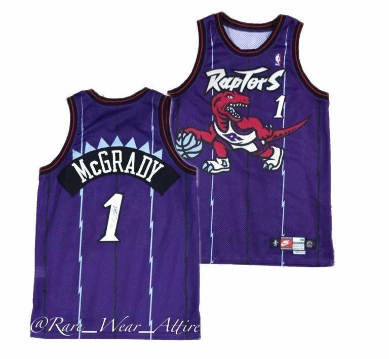 5bc4a38aeeb NBA Jersey Toronto Raptors Tracy McGrady Nike Pro Cut Team Vtg Rookie 97 98