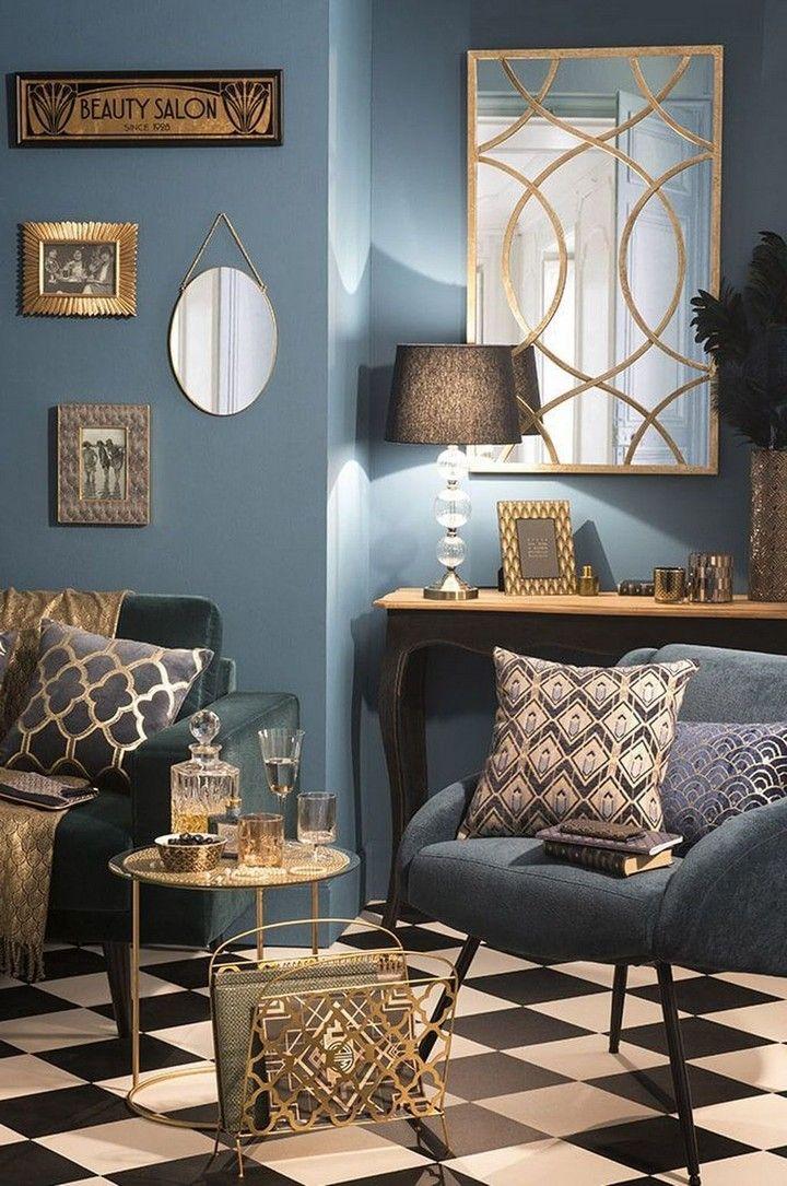 30 Home Interior Design Trends For 2020 Art Deco Living Room Interior Deco Art Deco Home