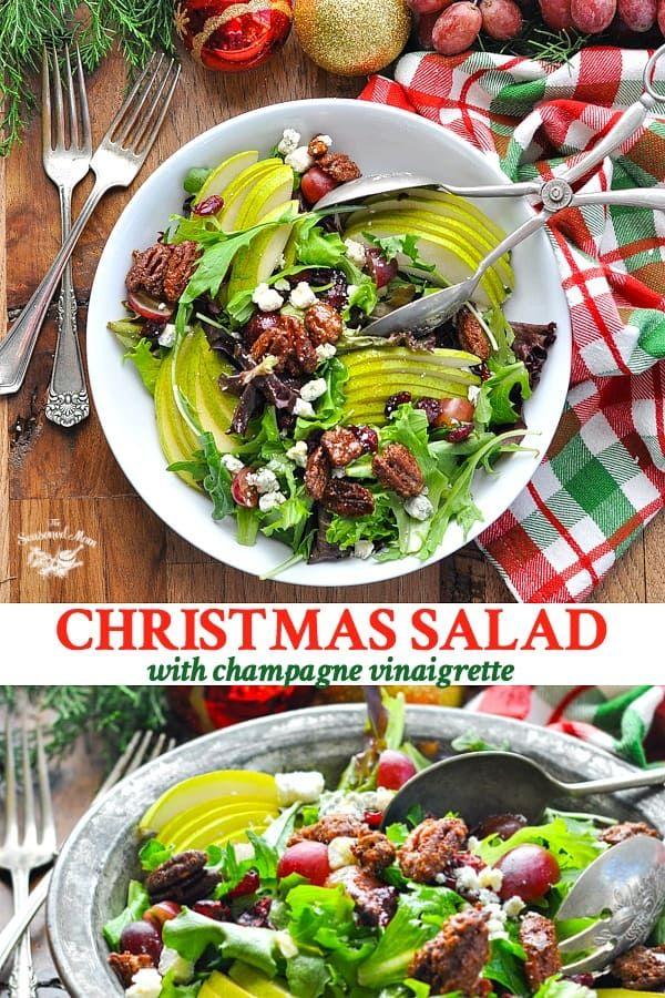 Salads For Christmas.Christmas Salad With Champagne Vinaigrette