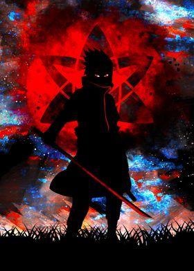 'Uchiha Revenge' Metal Poster Print - Hiro Labs   Displate