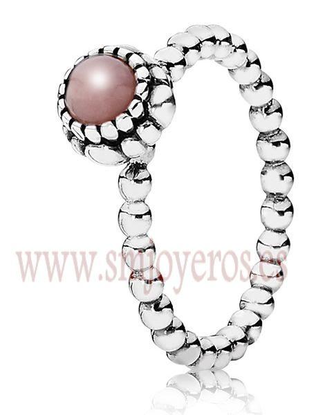 7fe2244e7c35 Anillo Pandora de plata. Opalo Rosa. Talla 52 REFERENCIA  PA190854POP-52  Fabricante. GemasCristalesPandora