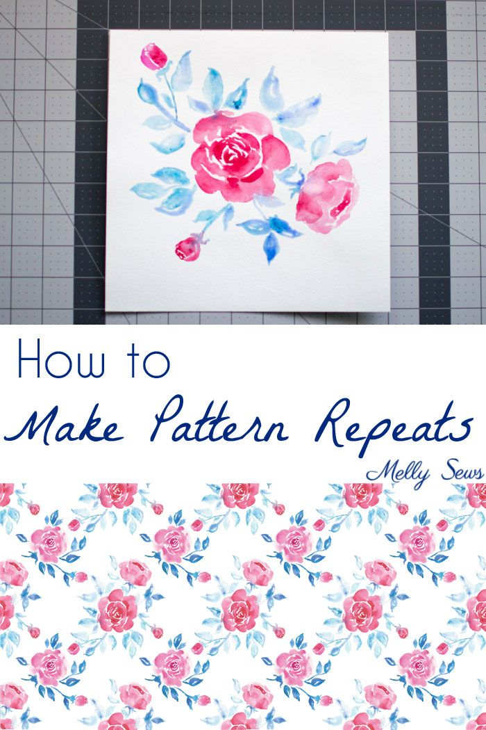 How to Make a Fabric Print - Print Repeat | AG Doll Accessories ...