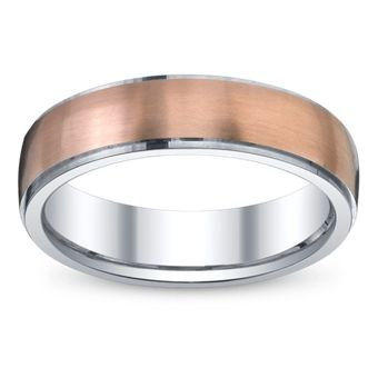 mens 14k rose gold white gold and silver wedding band 550