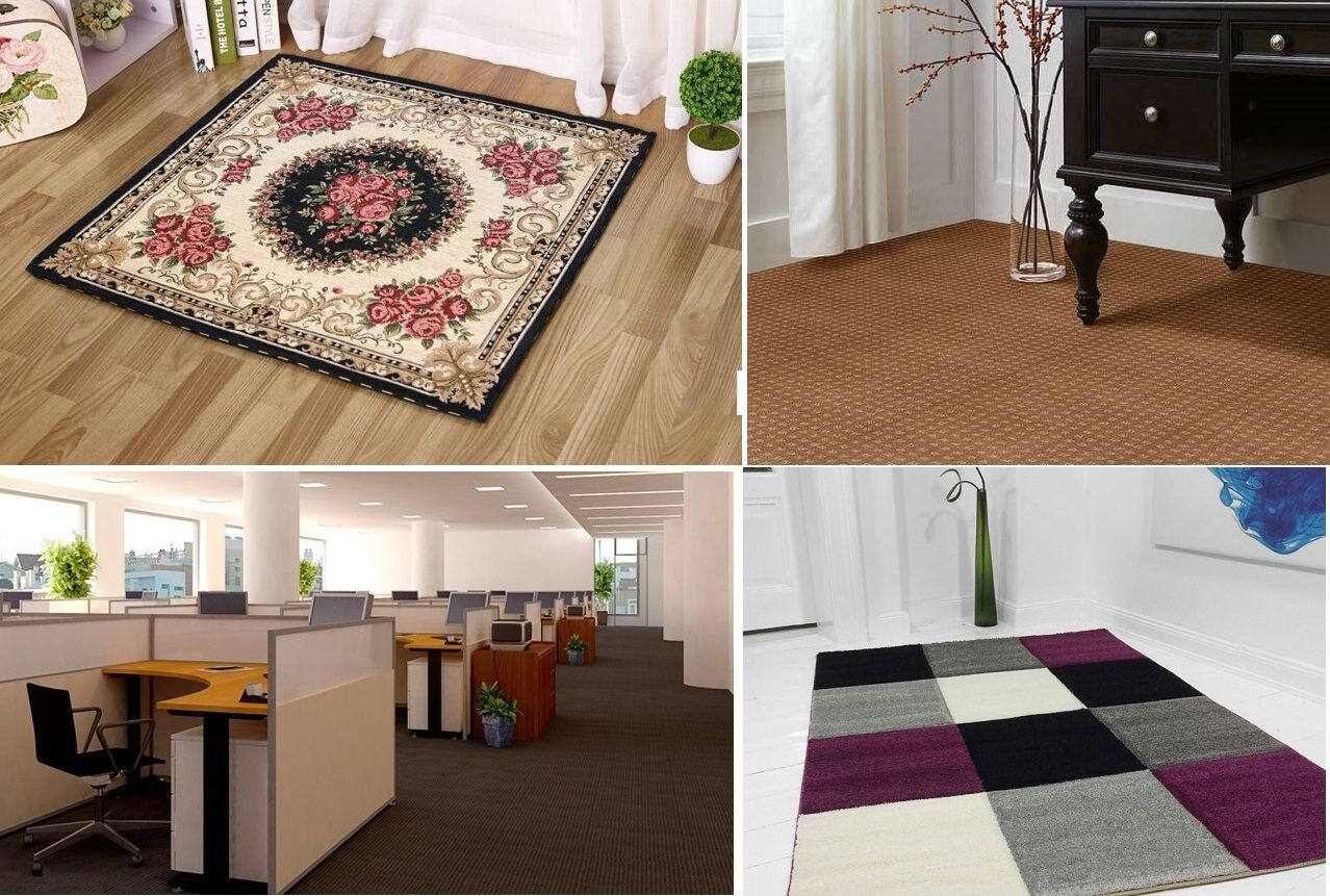 Rectangular or square shaped #Carpets and #wall-to-wall #carpet flooring ideas unite #intellectual, #technological and material areas and #FengShui home interiors. #SquareCarpets or small #floormats are good Feng Shui items for offices, study rooms, entryway, hallway and home library floor decoration.