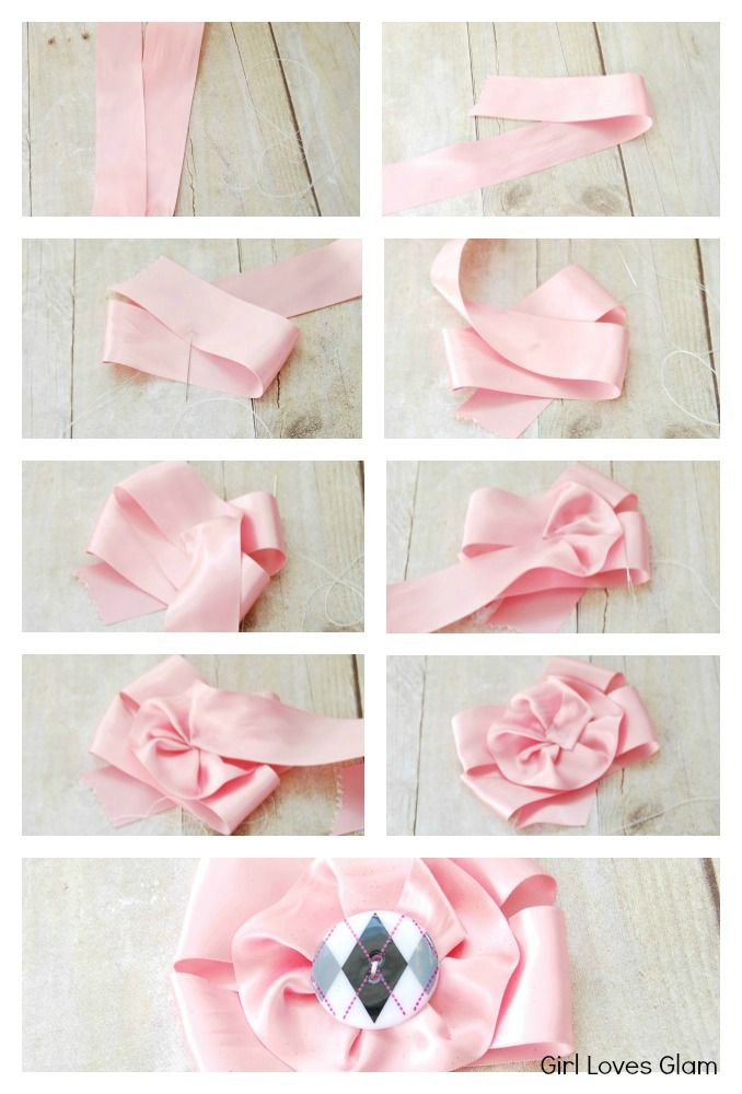 Satin Ribbon Flower How to Tutorial #diy #accessory #Flower