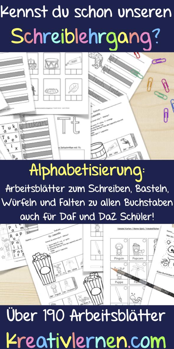 Komplettpaket Arbeitsblätter Zur Alphabetisierung Schreiblehrgang