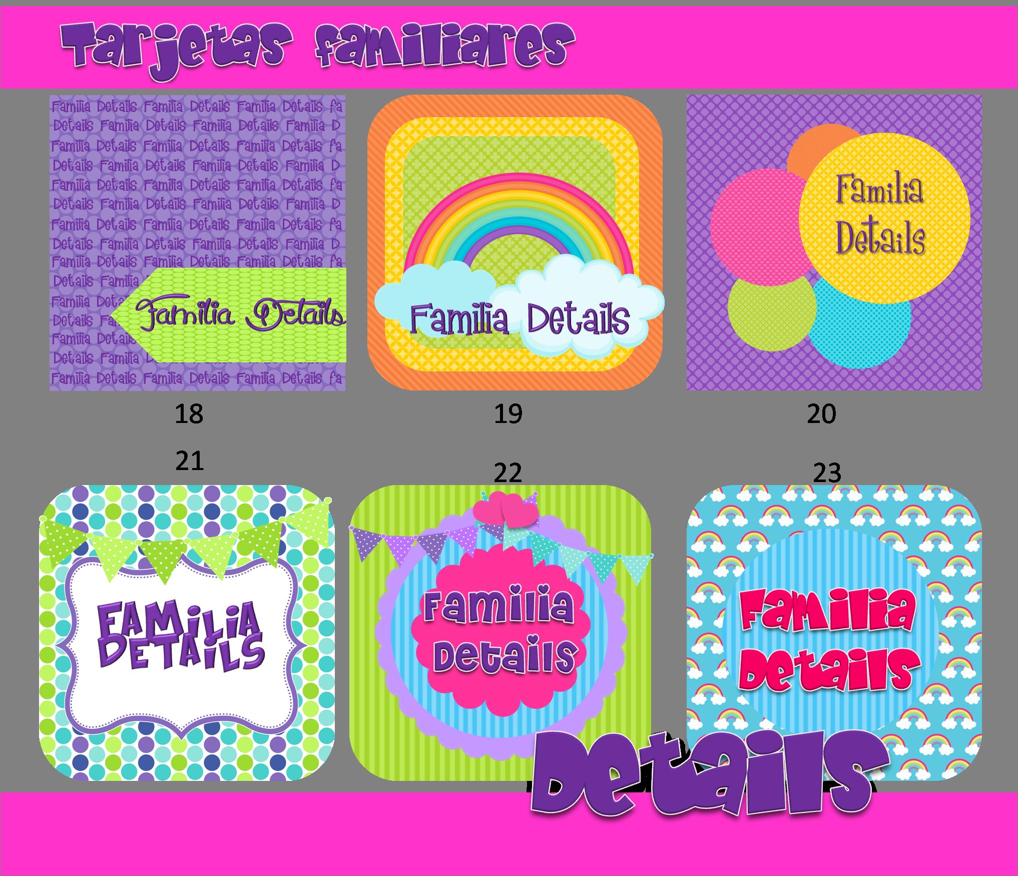 Dise o y creaci n de tarjetas de presentaci n familiares for Disenos para tarjetas