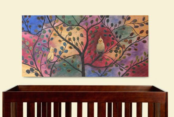 Original Cockatiel Colorful Painting on Canvas by AlongCameAPoppet, $275.00