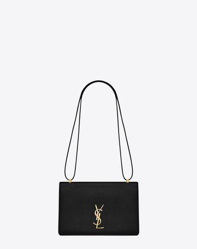 SAINT LAURENT Medium Dylan Monogram Saint Laurent Satchel In Black Leather. #saintlaurent #bags #shoulder bags #hand bags #lining #satchel #suede #