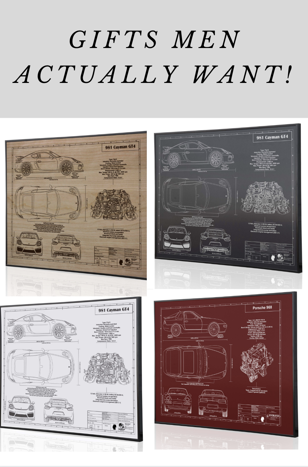 Car Blueprint Wall Art Car Wall Decor Car Gifts Unique Items Products Poster Wall Art