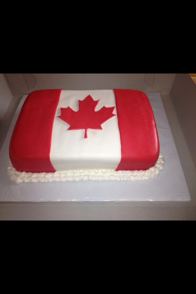 Outstanding Canadian Flag Birthday Cake Flag Cake Canadian Flag Cake Cake Funny Birthday Cards Online Chimdamsfinfo