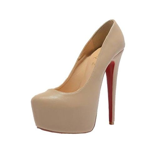 0ea7ea5ba06e Christian Louboutin Daffodile 160mm sheepskin (wedding)pumps apricot