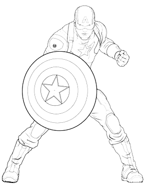 Avengers Captain America Coloring Page From Marvels The Avengers Category Sele In 2020 Captain America Coloring Pages Avengers Coloring Pages Superhero Coloring Pages