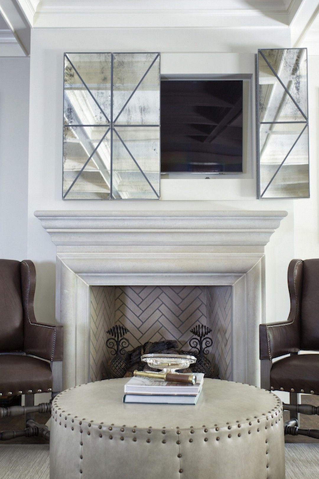 Genius Mirror TV Design For Living Room