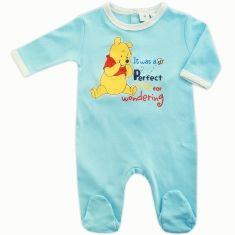 26df14b05404f Pyjama bébé mixte en coton turquoise Winnie l Ourson