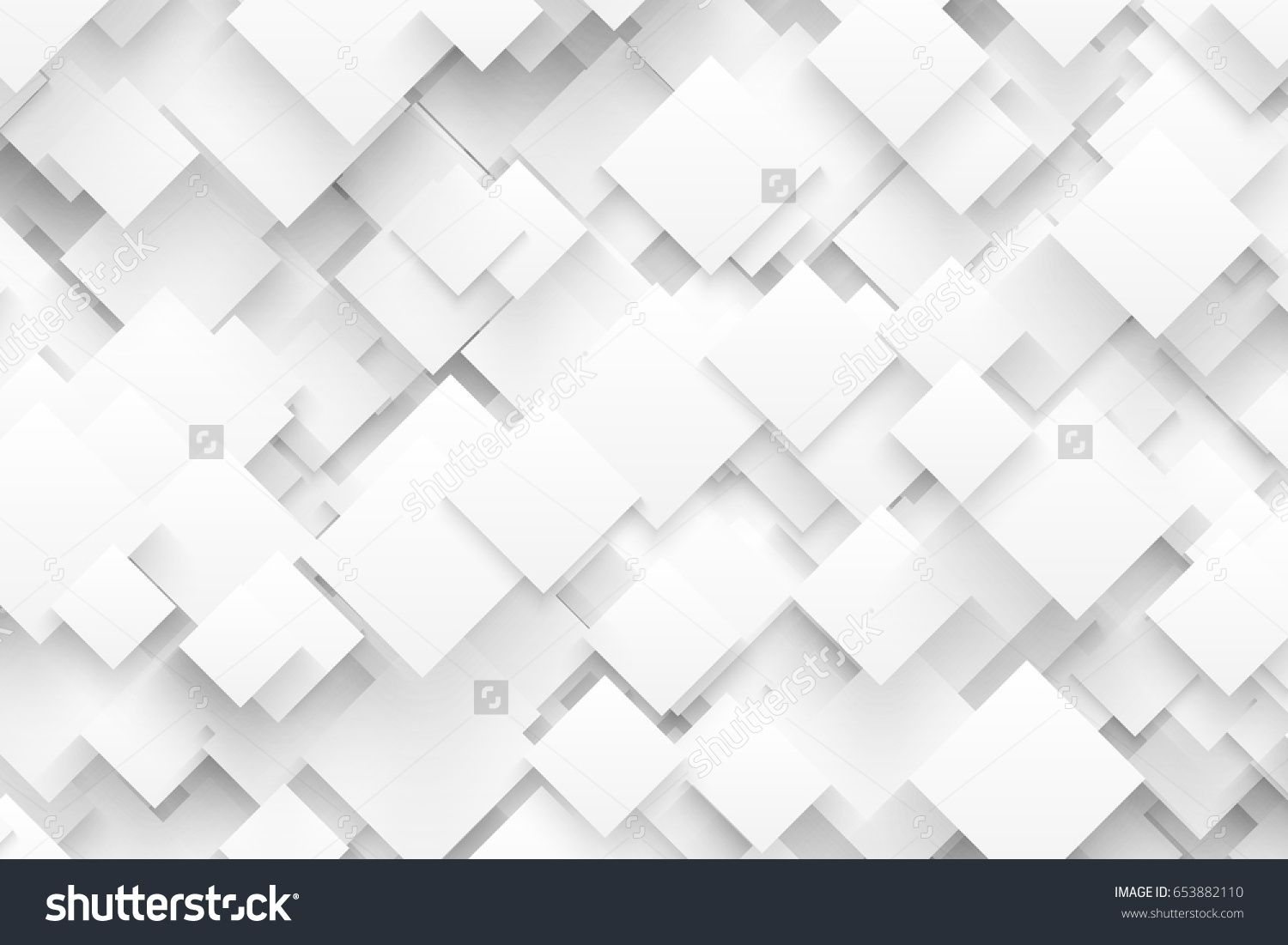 Abstract 3d Vector Technology White Background Technological Crystalline Structure Blank Backdrop Vector Technology White Background Abstract