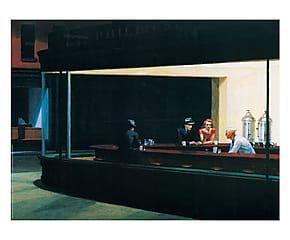 Stampa su pannello in mdf Falchi della notte - 80x60 cm