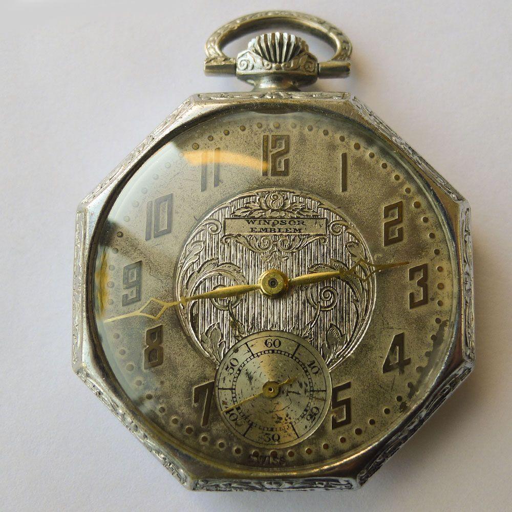 98051dc203b Pocket Watch - Antique Art Nouveau - Sterling Silver - Circa 1910 ...