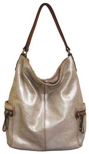 Tano Hobo Handbag In Metallic Silver Love This So Neutral And Fun