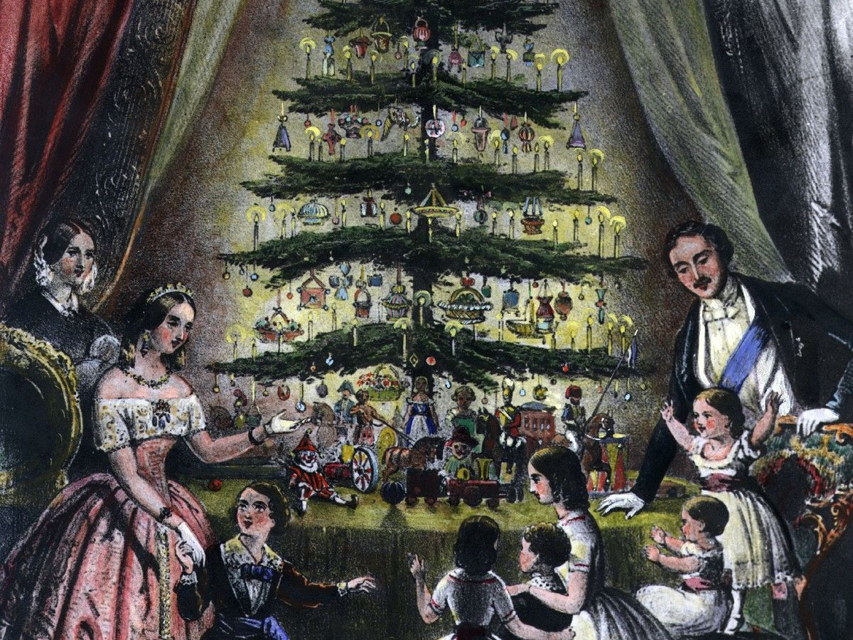 This Royal Couple Brought The Christmas Tree Tradition To The Masses Victorian Era Christmas Tree Origin Queen Victoria