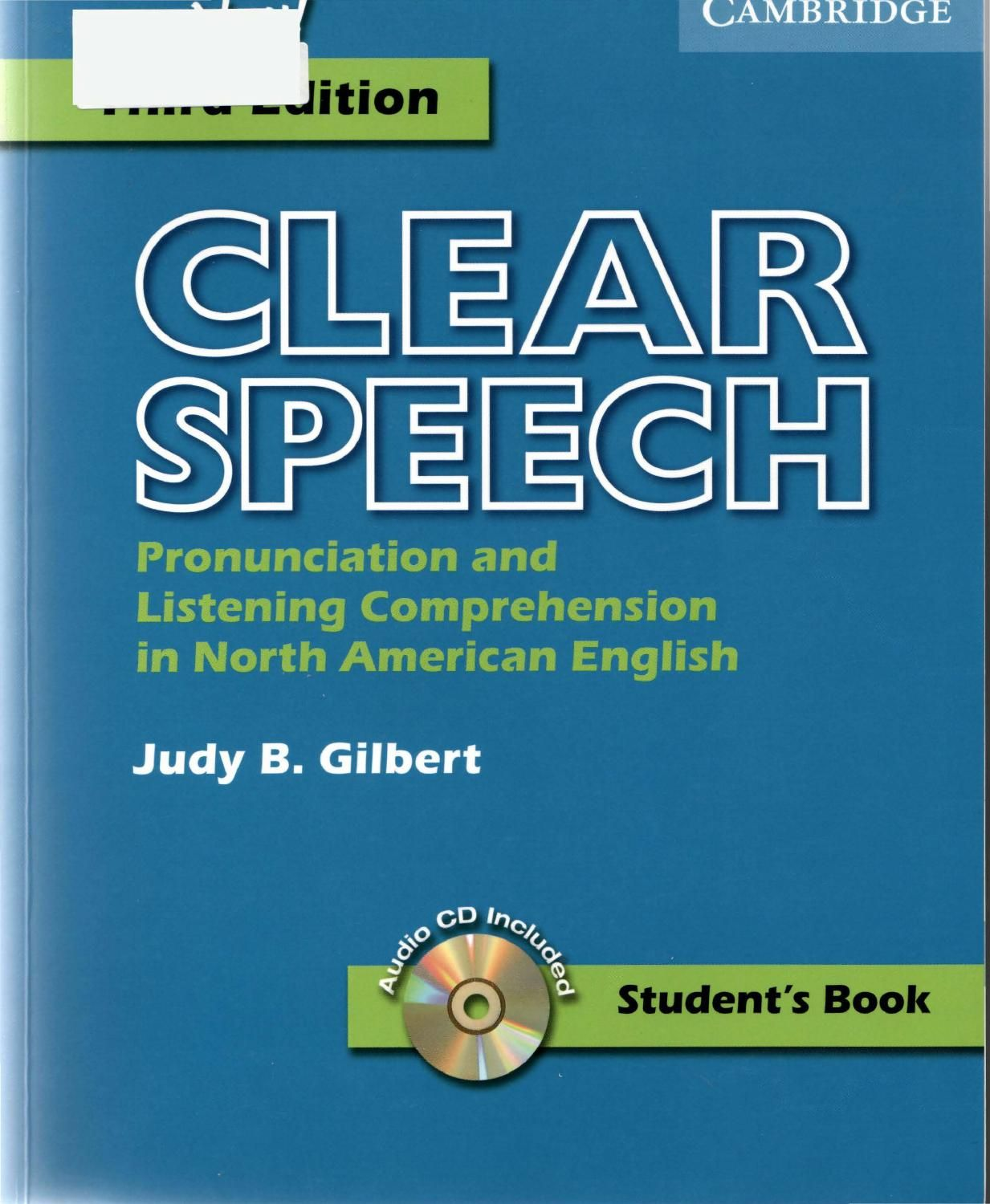 Clear Speech Student S Book Pronunciation And Listening