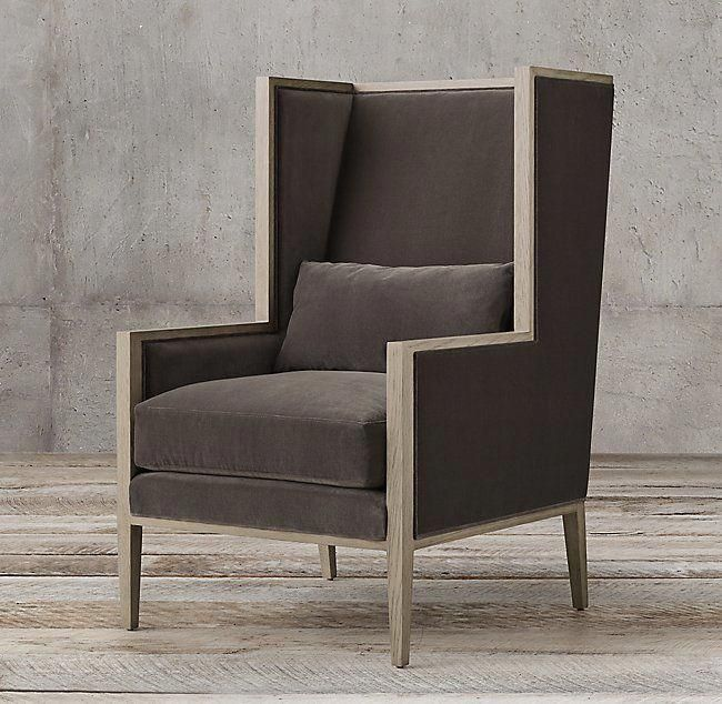 French Contemporary Track Wingback Chair #wingbackchair Outdoor