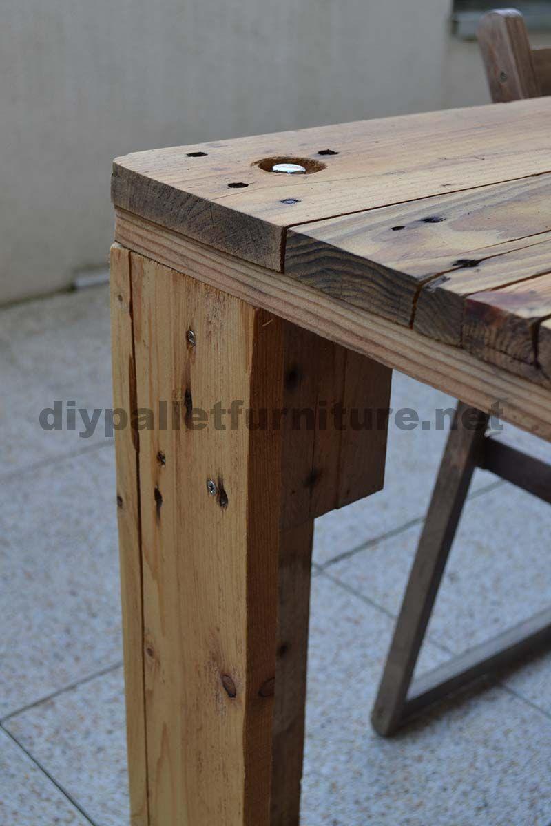 wie leicht eine tabelle mit einer europalette zuk nftige projekte pinterest. Black Bedroom Furniture Sets. Home Design Ideas