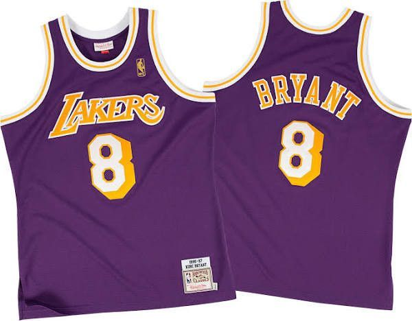 the latest e8b8e 8b7a8 Los Angeles Lakers Kobe Bryant #8 Throwback Away Jersey ...
