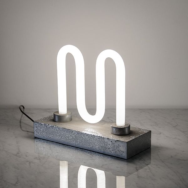 Ultra Rare Ingo Maurer Lamp / Design M / Comes With Extra M Shaped Philips  Tube Light.