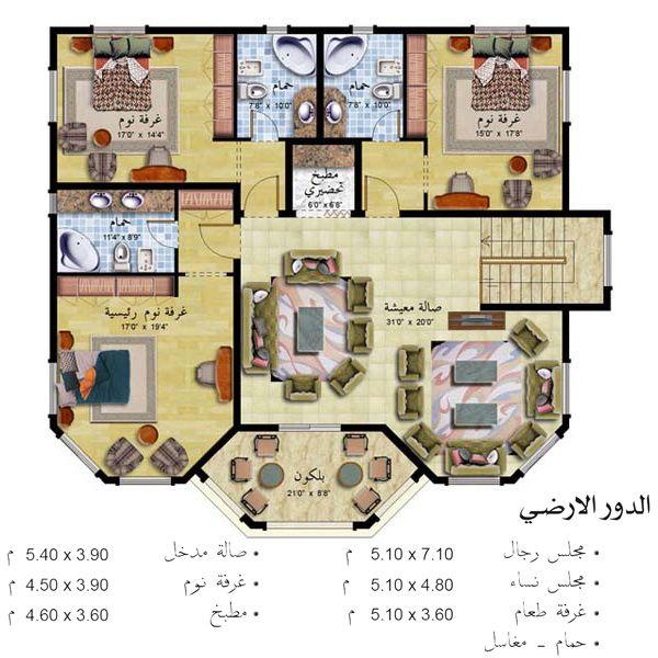 أكبر تجميع صور لواجهات وخرائط المنازل House Floor Design Square House Plans House Design Pictures
