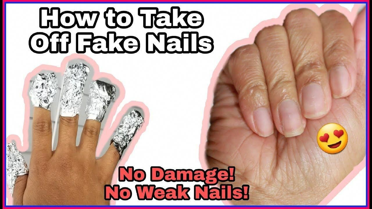 how to take off acrylic nail